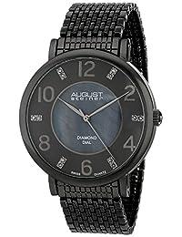 August Steiner Men's AS8138GN Analog Display Swiss Quartz Black Watch