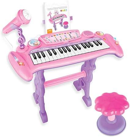 YTBLF El Piano electrónico para niños con micrófono, Puede ...