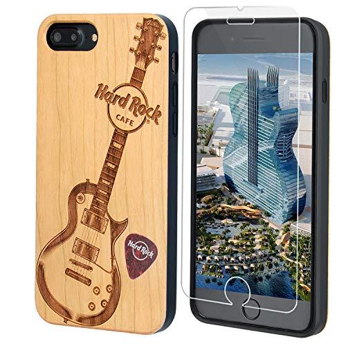 Hard Rock Guitar Wood Phone Case Compatible