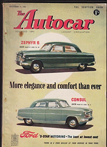 AUTOCAR Studebaker Commander Coupe road test Scottish Car Show ++ 11/13 1953