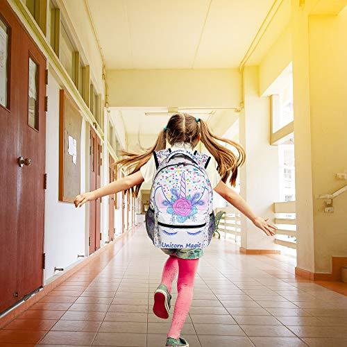 217453bd1184 ZOEO Unicorn Backpack for Girls Backpacks Cream Pink Unicorn Magic 3th 4th  5th Grade School Bags Bookbags for Teen Kids Travel Laptop Daypack Bag ...