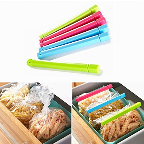 Ash Natural Flooring (JD Million shop 6Pcs/Lot Househould Food Snack Storage Seal Sealing Bag Clips Sealer Clamp Food Bag Clips Kitchen Tool Home Food Close Clip Seal)