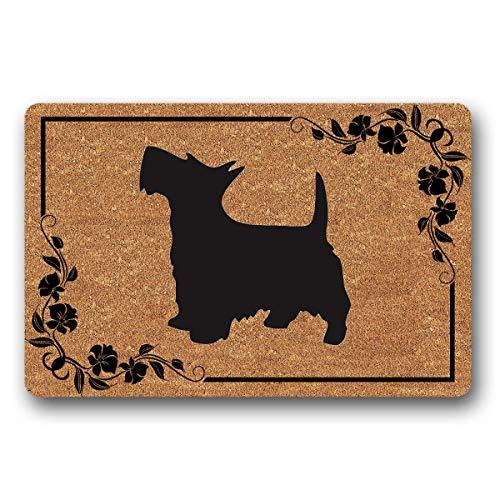 Bernie Gresham Entrance Floor Mat Funny Doormat Scottish Terrier Dog Door mat Decorative Indoor Outdoor Doormat Non-Woven Fabric Top 30
