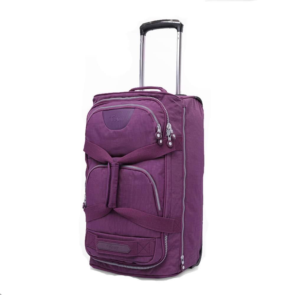 旅行用品荷物スーツケーストロリーケース プレミアム回転プルロッドボックスナイロントラベルバッグ、搭乗旅行ビジネスバッグ、男性と女性20インチ B07SPYRT6T