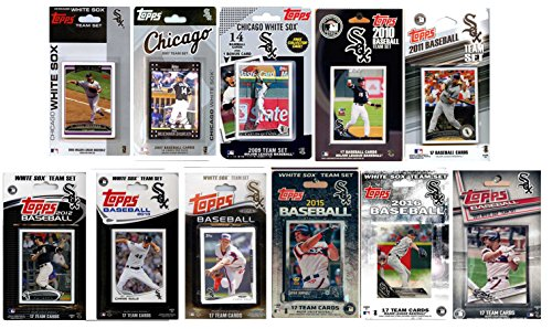 C&I Collectables MLB Chicago Sox Men's 11 Different Licensed Trading Card Team Sets, White from C&I Collectables