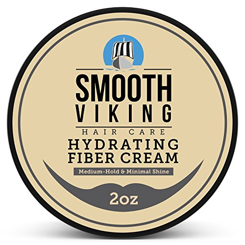 Smooth Shine Cream - Hair Styling Fiber for Men - Pliable Molding Wax Product with Medium Hold & Minimal Shine - For Modern Hairstyles - Thickens, Texturizes & Increases Fullness in Thinning Hair - 2 OZ - Smooth Viking