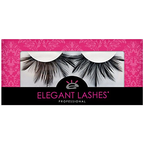 Hunger Halloween Catching Costumes Fire Games (Elegant Lashes F137 Premium Black Feather False Eyelashes Halloween Dance Rave)