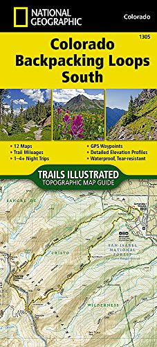 Colorado Backpack Loops South (National Geographic Topographic Map Guide)