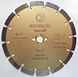 7 inch diamond wet saw blade - Whirlwind USA LSS 7-Inch Dry or Wet Cutting General Purpose Power Saw Segmented Diamond Blades for Concrete Stone Brick Masonry (Factory Direct Sale) (7