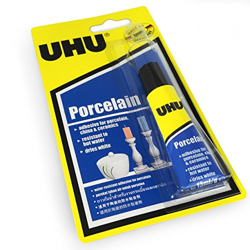 UHU Porcelain Adhesive - Dries White - Water Resistant - 13ml