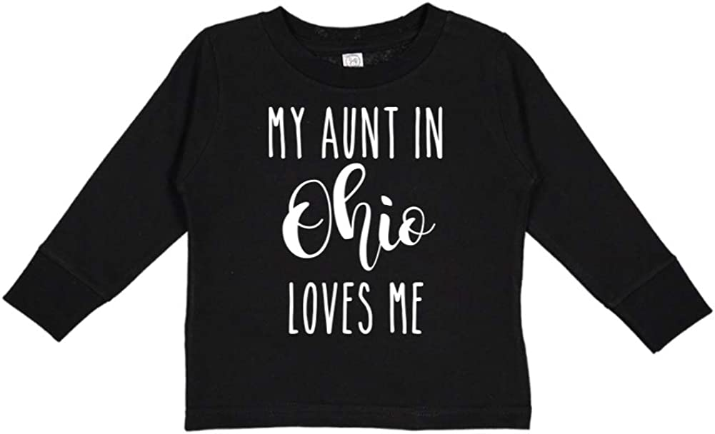My Aunt in Ohio Loves Me Toddler//Kids Long Sleeve T-Shirt