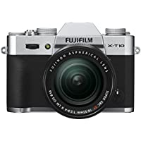 Fujifilm X-T10 Silver Mirrorless Digital Camera Kit with XF 18-55mm F2.8-4.0 R LM OIS Lens - International Version (No Warranty)