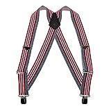 Welch Men's Big & Tall Elastic Clip End American Flag Trucker Suspenders