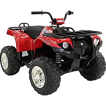 Yamaha Grizzly ATV 12V Electric Kids Ride On Quad, Red