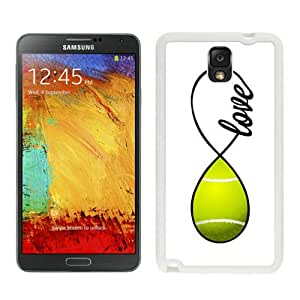 Unique And Popular Samsung Galaxy Note 3 Case ,Tennis Love Infinity Love White Samsung Galaxy Note 3 Screen Cover Beautiful Designed