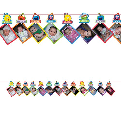 - Elmo Turns One Photo Garland [Contains 1 Manufacturer Retail Unit(s) per Amazon Combined Package Sales Unit] - SKU# 221835