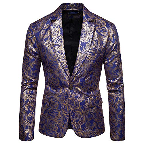 New Printed Men's Fashion Dashiki Cardigan Jacket Long Sleeve Printed Coat