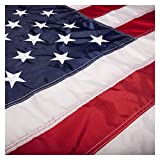 PFC - American Flag: 3x5 ft (US Flags - Embroidered Stars, Sewn Stripes, Brass Grommets) Indoor/Outdoor Use. Quality High Strength Dupont Nylon, 100% Made in USA