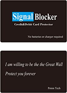 RFID Blocking Card Signal Blocker Vault Credit & Debit Card Protector 0.9mm Ultrathin NFC Contactless Cards Protection Entire Wallet & Purse Shield Not Need RFID Blocking Sleeves (Black)