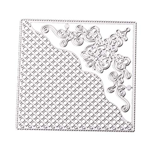Prettyia DIY Corner Lace Square 10x10cm Metal Scrapbooking Cutting Dies - Embossing Stencil and Template for Scrapbooking Arts Crafts Making - Chipboard Die Cut Shapes