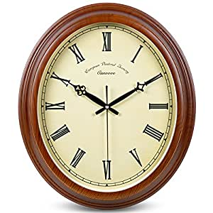 Zem Pxd The Living Room Wall Clock European Garden Watch Retro Large Quartz Clock