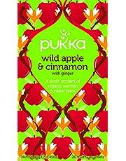 PUKKA Organic  Wild Apple and Cinnamon with Ginger, 20 Herbal Tea Sachets, 40g