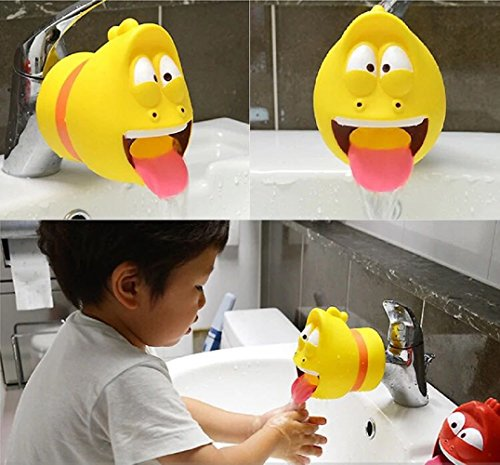 Fanned Faucet Extende-Sink Handle Extender, Safe Fun Hand-Washing Solution for Babies,Teach Your Kids Good Sanitation Habits-Bathtub Faucet Extender Protector for Baby-Child Cute Accessories by Fanned