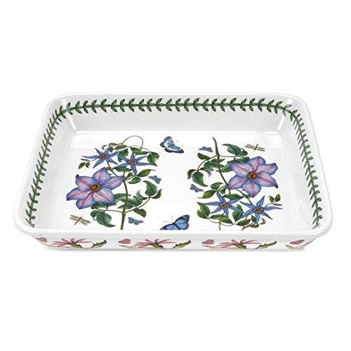 Portmeirion Botanic Garden - Lasagne Dish 12.5 inchx10 inch- Clematis