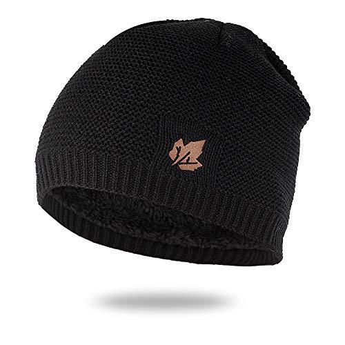 Aoesila Hat for Women Fashion Men and Women Leaves Knit Hat Plus Windproof Earmuffs Cap Gray