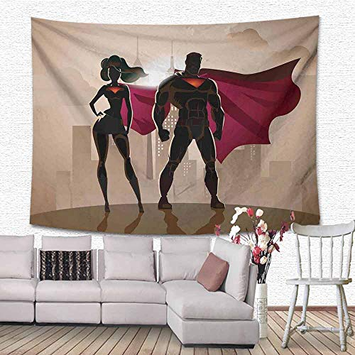 Tangled Couple Costumes - SONGDAYONE Smooth Tapestry Superhero Super Woman