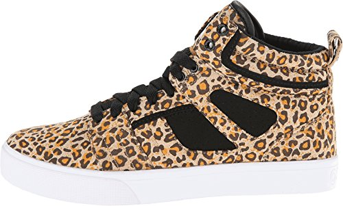 Osiris Women's Raider Skate Shoe,Black/Tan/Cheetah,6 M US
