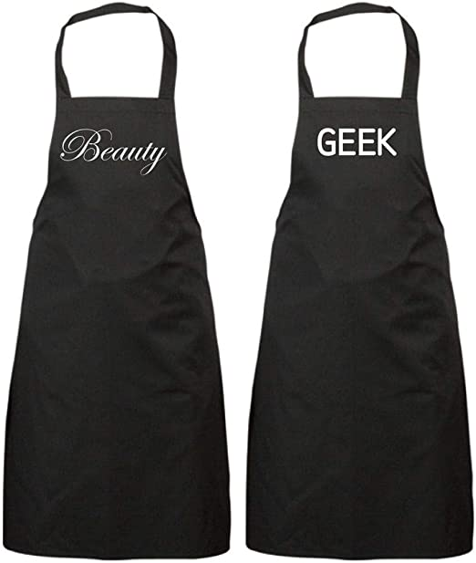 Beauty Geek Schwarzes Schürzenset Geschenk Zum Hochzeitstag