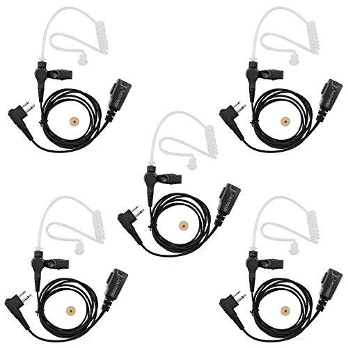 abcGoodefg FBI Style SURVEILLANCE Covert Headset Earpiece Mic For HYT (Hytera) Radios motorola radioa CLS1110 CLS1410 CLS1413 CLS1450 CLS1450C CP200 PR400 CP100 TC-500 (5 PACK) by abcGoodefg