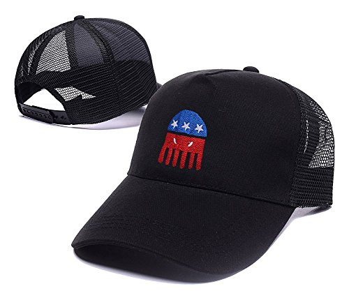 DEBANG Cthulhu For President Parody Funny Mesh Cap Embroidery Baseball Mesh Hat (City Of Muskegon Jobs)