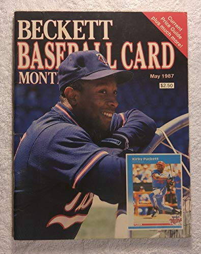 Kirby Puckett - Minnesota Twins - Beckett Baseball Card Monthly Magazine - #27 - May 1987 - Back Cover: Vince Coleman (St. Louis Cardinals)