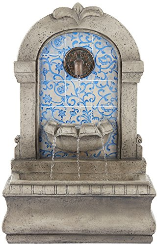 Manhasset 30 1/4″ High Stone and Blue Outdoor Floor Fountain Review