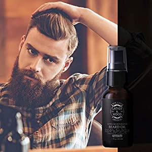 Ultra-Moisturizer Beard Oil For Men - Premium Blend - Spill-proof Pump - Original Scent is a Crisp Forest Ambience of Eucalyptus, Mint, and Lavender - Organic Hazelnut, Jojoba, Argan, Grapeseed Oils