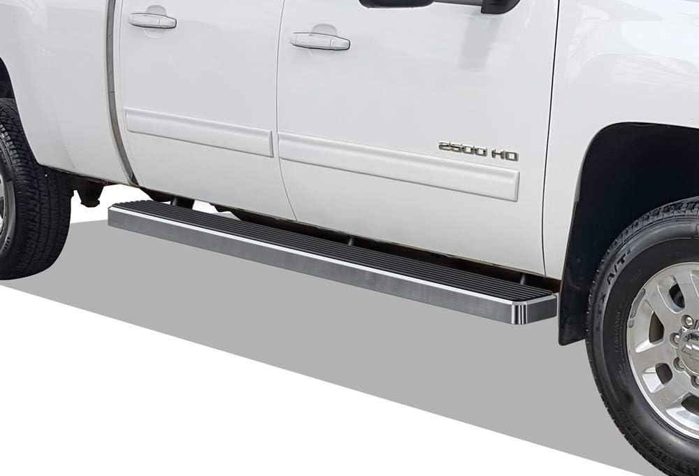 "Premium 4/"" Black iBoard Side Steps Fit 07-18 Chevy Silverado GMC Sierra Crew Cab"