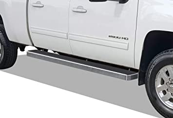 SideRails Fit 2007-2018 Chevy//GMC Silverado//Sierra 1500//2500//3500 Extended Cab//Double Cab Black Carbon Steel |Powder Coated Running Boards Nerf Bars Incl. Diesel Models with DEF Tanks APS 6