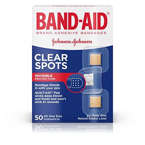 Band-Aid Brand Clear Spots Bandages for Discreet First Aid, All One Size, 50 ct by Band-Aid