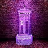 3D Illusion Lamp Led Night Light Docor Who Flash