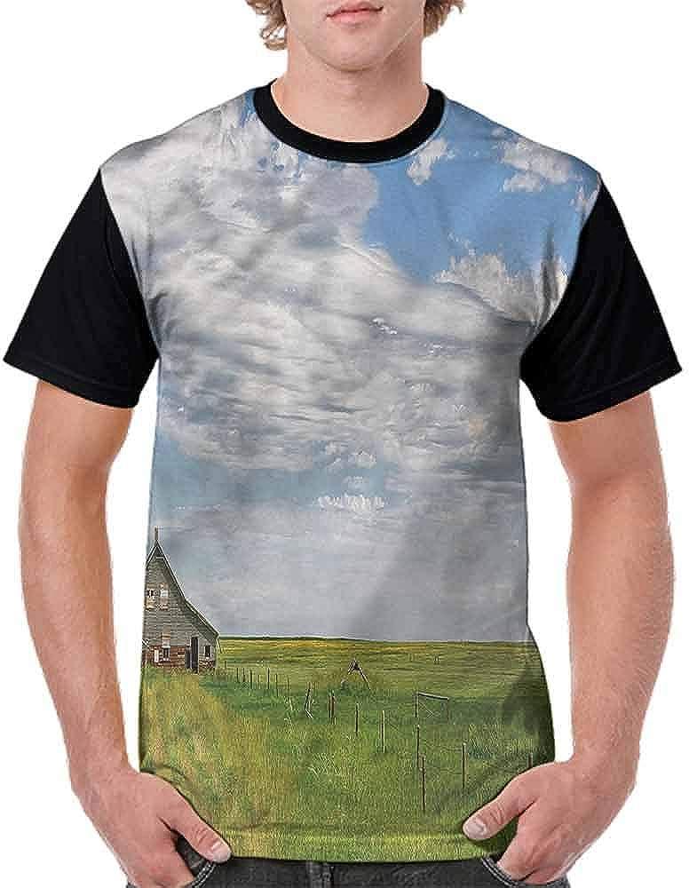 BlountDecor Unisex T-Shirt,Majestic Old Building Wooden Fashion Personality Customization