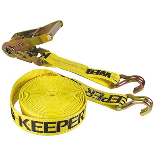 Keeper 04624 Heavy Duty 40 x 2 Ratcheting Tie Down 10,000 lbs Rated Capacity with Double J-Hooks