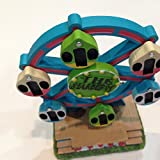 Ferris wheel with movable seats Resin Building Tiny Treasures Rustic Garden 4 x 2.5 x 6 inches