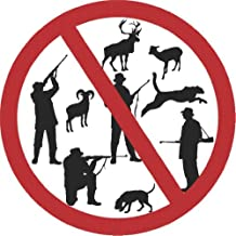Decal - Vinyl Wall Sticker : Anti Hunting Activist Killing Shooting Guns Animals Deer Buck Moose Dog Living Room Bedroom Kitchen Home Decor Picture Art Image Peel & Stick Graphic Mural Design Decoration - Size : 20 Inches X 20 Inches - 22 Colors Available