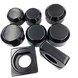 NBX-Black Aluminum Fork Axle Caps Covers For 96-05 Suzuki Gsxr 600 750 01-04 1000
