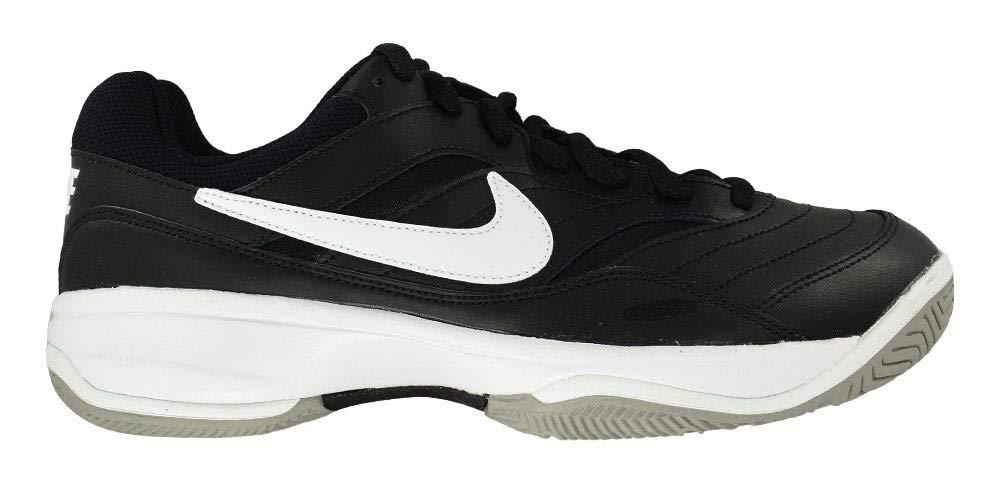 NIKE Men's Court Lite Athletic Shoe, Black/White/Medium Grey, 7.5 Regular US