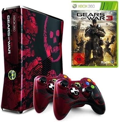 Microsoft Xbox 360 Limited Edition Gears of War 3, BNDL - juegos de PC (BNDL, 320 GB, AV) Negro, Rojo: Amazon.es: Videojuegos