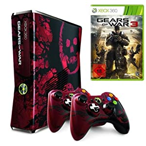 [HOT!] Xbox 360 Slim 320 GB Gears of War 3 Edition + 2 Controller + Gears of War 3 nur 143,17€ inkl. Versand (Amazon WHD)