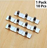 Cable Wires Organizing Clips with Adhesive Tape - 10 Pieces